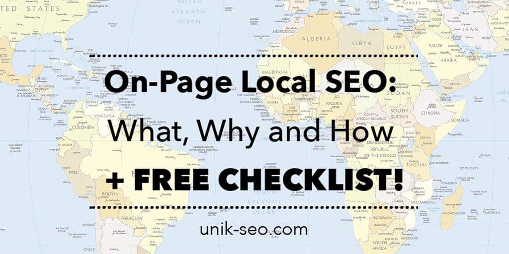 On-Page Local SEO