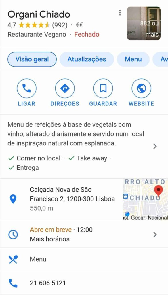 Google MyBusiness profile example
